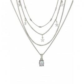 Star Pendant Layered Choker Necklace