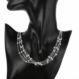 Ball Pendant Necklace with 5 Line Light Bead