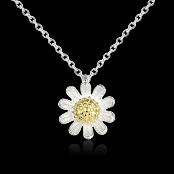 925 Sterling Silver Necklace 925 Sterling Silver Daisy Necklace