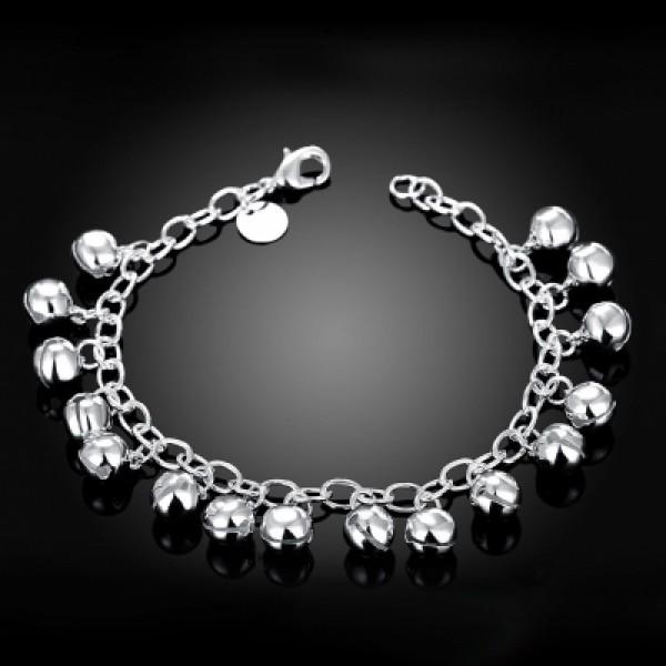 Chain Bracelet with Silver Globe