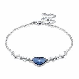 S925 Heart Sterling Silver Bracelet