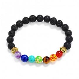 Faux Gemstone Lava Stone Bead Bracelet