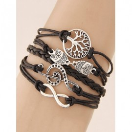Tree of Life Owl Braided Bracelet