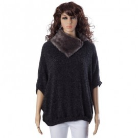 Loose-Fitting Batwing Sleeve Sweater