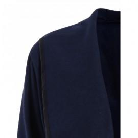 Turtleneck Long Sleeve Asymmetric Coat For Women