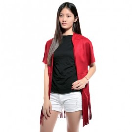 Stand Collar Short Sleeve Color Fringed Coat For Women