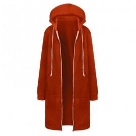Women Plus Size Warm Hoodie Casual Loose Sweatshirt Coat Velvet Fashion Outwear